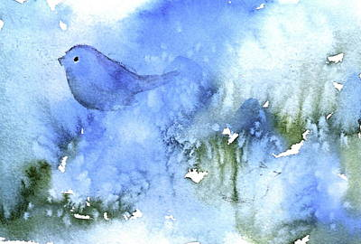 Painting - Bluebird by Anne Duke