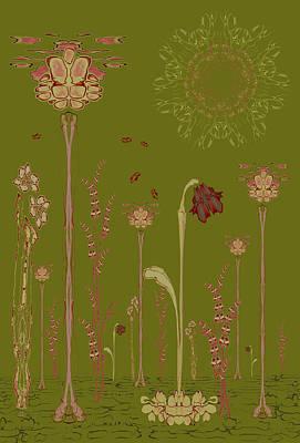 Blob Flower Garden Full View Art Print