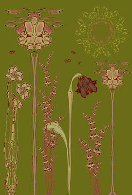 Blob Flower Garden Art Print