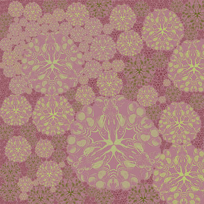 Digital Art - Blob Flower Painting #3 Pink by Kristin Doner