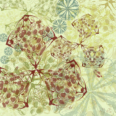Digital Art - Blob Flower Painting #1 Pale Yellow by Kristin Doner
