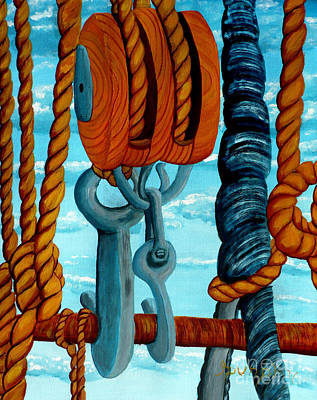 Painting - Block And Tackle by Anthony Dunphy