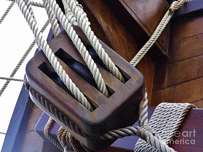 Photograph - Block And Tackle by D Hackett