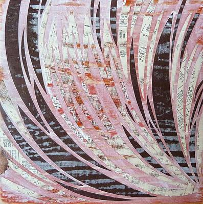 Neutral Colors Mixed Media - Block IIi by Desiree Warren