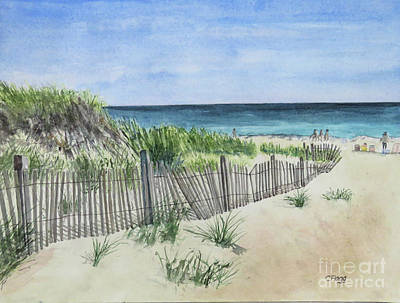 Painting - Block Island Beach by Carol Flagg