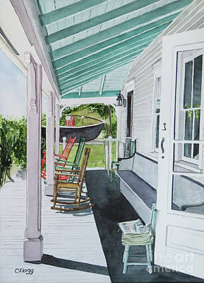 Painting - Block Island Historical Society by Carol Flagg
