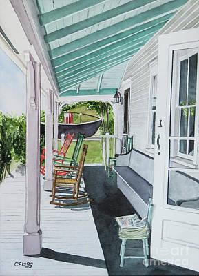 Painting - Block Island Historical Society by Carol Flagg