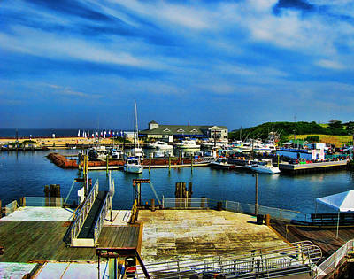 Block Island Marina Art Print by Lourry Legarde