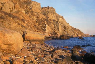 Photograph - Block Island Mohegan Bluffs by John Burk