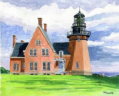 Painting - Block Island Rhode Island Lighthouse by Jeff Blazejovsky