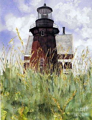 Lighthouse Painting - Block Island Southeast Lighthouse by Lizbeth McGee