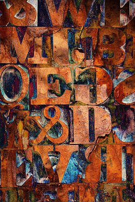 Block Letters Variation 2 Art Print by Tony Ramos