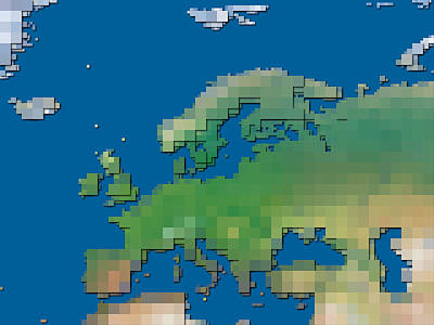 Digital Art - Block Map Europe by Frans Blok