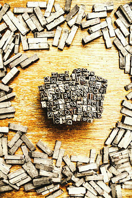 Words Background Photograph - Block Of Communication by Jorgo Photography - Wall Art Gallery