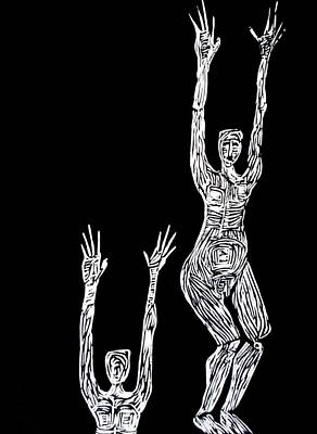 Linoleum Mixed Media - Block by Patricia Bigelow