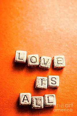 Block Quotes On Love Is All  Art Print