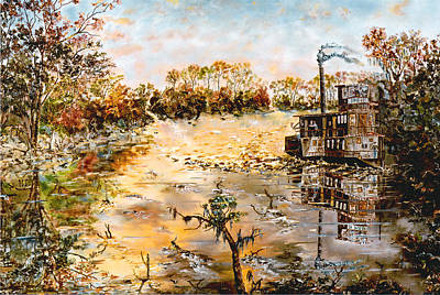 River Boat Painting - Blockade Runner by Richard Barham