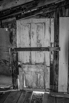 Photograph - Blocked Entry Bw by Teresa Wilson