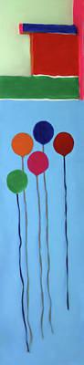 Mixed Media - Blocks And Balloons by Deborah Boyd