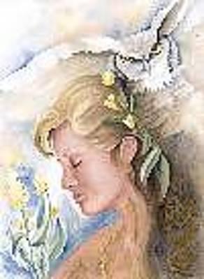 Welsh Goddess Painting - Blodeuwedd by Jan Hess