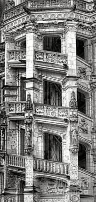 Photograph - Blois Castle Staircase by Olivier Le Queinec