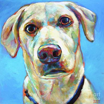 Painting - Blond Labrador by Robert Phelps