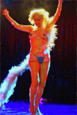 Painting - Blond Stripper by Joan Reese