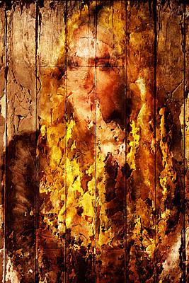 Digital Art - Blond Wood Inlay by Andrea Barbieri
