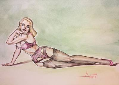 Painting - Blonde Ambition Pinup by Jimmy Adams