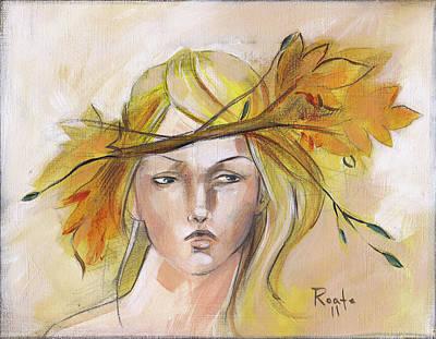 Blonde Autumn Forward Art Print by Jacque Hudson