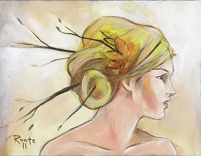 Blonde Autumn Right Art Print by Jacque Hudson