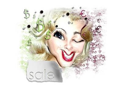 Digital Art - Blonde For Sale by Larisa Isaeva