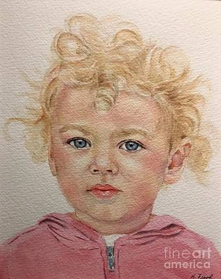 Painting - Blonde Girl by Kathy Flood