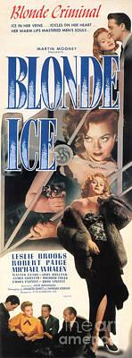 Painting - Blonde Ice Film Noir by R Muirhead Art