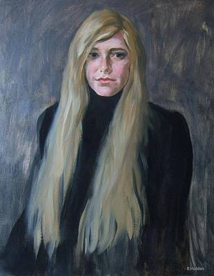 Painting - Blonde In Black by Robert Holden