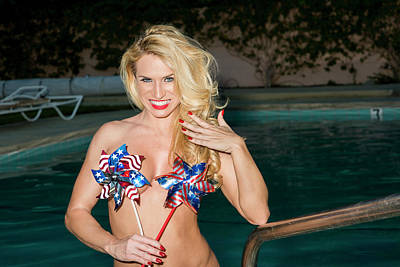 Photograph - Blonde Patriotic Wind Spinners by Amyn Nasser