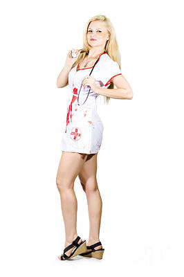 Cover Girl Photograph - Blonde Sexy Nurse by Jorgo Photography - Wall Art Gallery