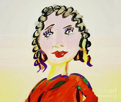 Drawing - Blonde Whimsey  by Susan Garren