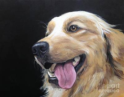 Gold Labrador Painting - Blondes Have More Fun by June Huff