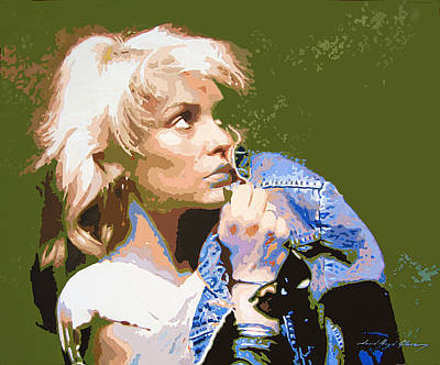 Disco Painting - Blondie - Debbie Harry by David Lloyd Glover