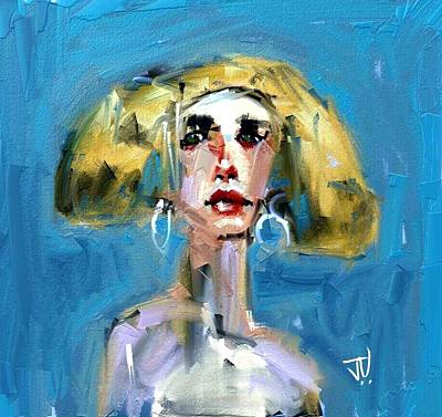 Digital Art - Blondie by Jim Vance