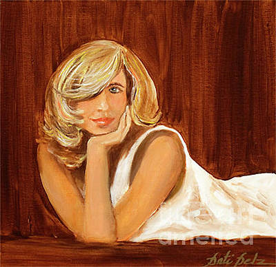 Painting - Blondie Lady by Pati Pelz