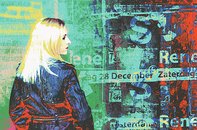 Mixed Media - Amsterdam Blonde Profile by Shay Culligan