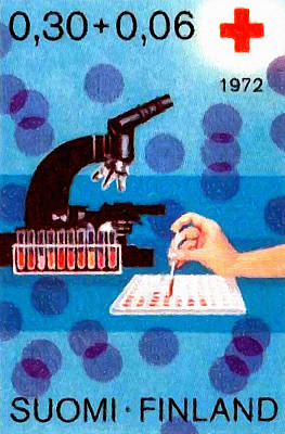 Blood Analysis Microscope Art Print