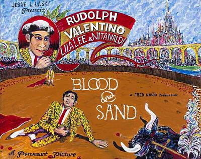 Painting - Blood And Sand - 1922 Lobby Card That Never Was by Jonathan Morrill