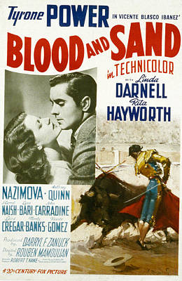 Postv Photograph - Blood And Sand, Rita Hayworth, Tyrone by Everett
