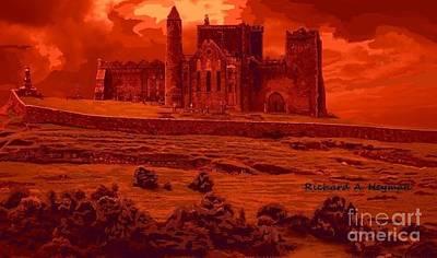 Primitive Drawing - Blood Castle by Richard Heyman