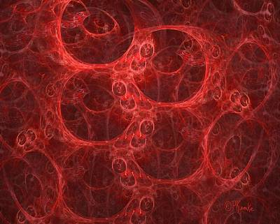 Red Abstracts Digital Art - Blood Cells by Patricia Kemke