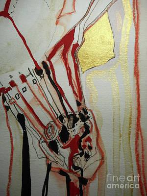 Blood Flowers Art Print by Katerina Stamatelos