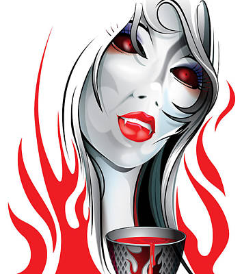 Blood Lust  Art Print by Brian Gibbs